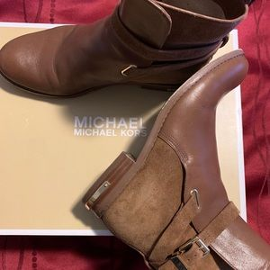 Caramel MK Ankle Boots